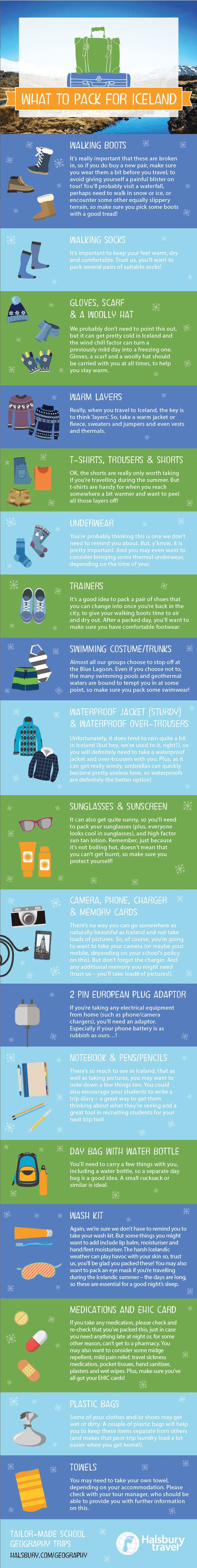 What to pack for a school trip to Iceland