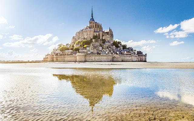 Mont Saint-Michel in Normandy, France