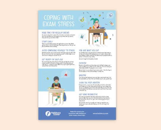 Coping with Exam Stress Poster