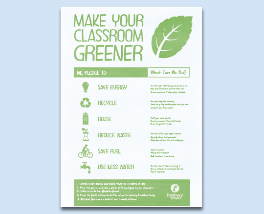 Make your classroom greener poster