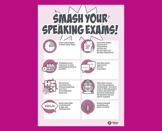 Speaking Exam Tips Poster
