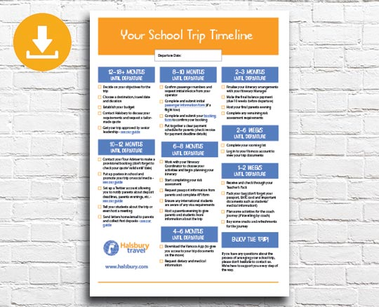 Your School Trip Timeline