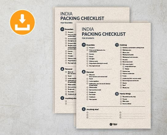 India Packing Checklists